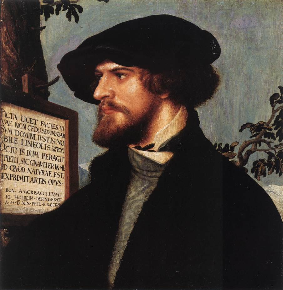 'Portrait of Bonifacius Amerbach', Oil by Hans Holbein The Younger (1497-1543, Germany)
