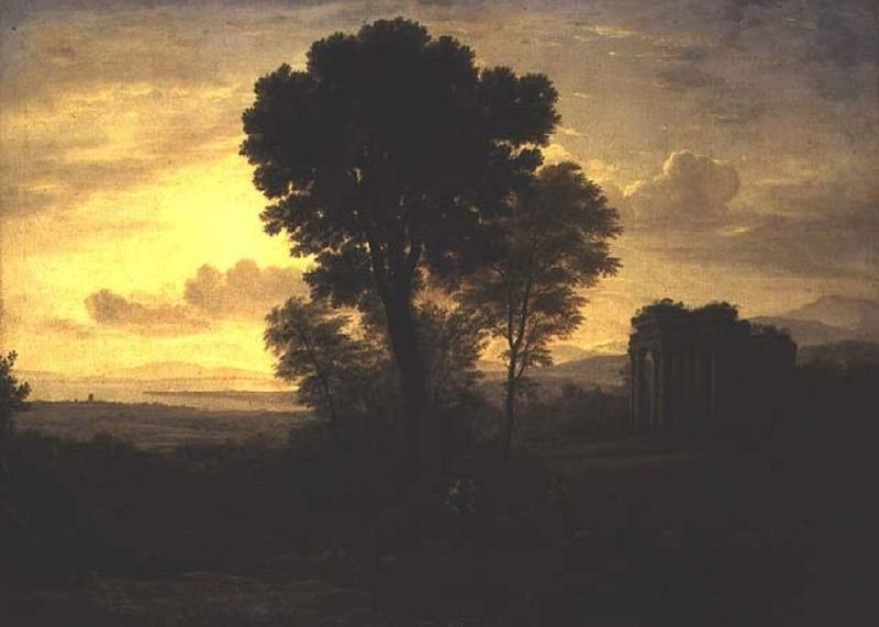 Morning by Claude Lorrain (1600-1682, France) | Famous Paintings Reproductions | WahooArt.com