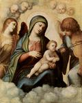 Antonio Allegri Da Correggio - Madonna and Child in Glory with Angels