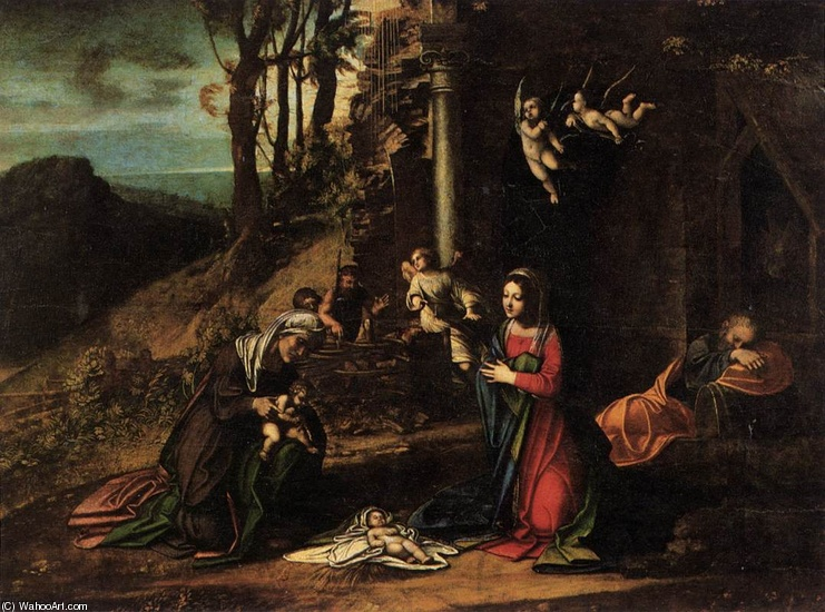 'Nativity', Oil by Antonio Allegri Da Correggio (1489-1534, Italy)