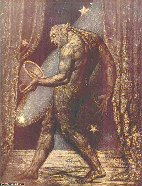 The Ghost of a Flea by William Blake (1757-1827, United Kingdom) | WahooArt.com
