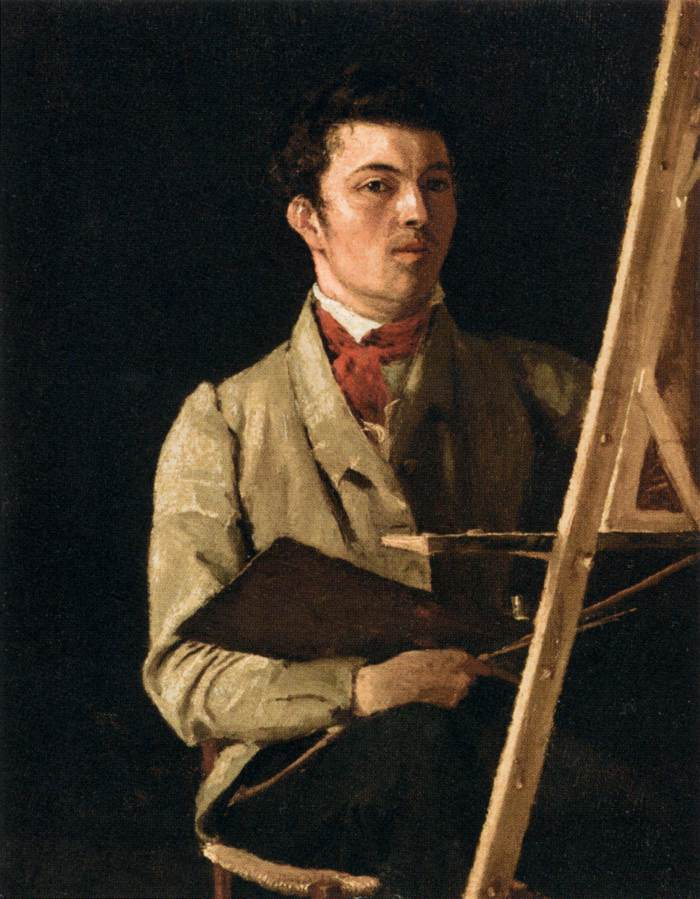 'Self-Portrait', Oil by Jean-Baptiste Corot (1796-1875, France)