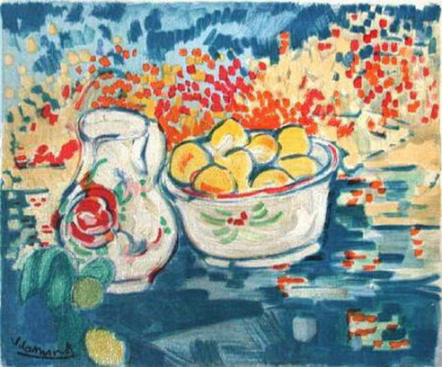 Still Life with Apples by Maurice De Vlaminck (1876-1958, France) | Painting Copy | WahooArt.com