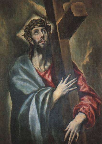 'Christ Carrying the Cross', Oil by El Greco - Dominikos Theotokopoulos (1541-1614, Spain)