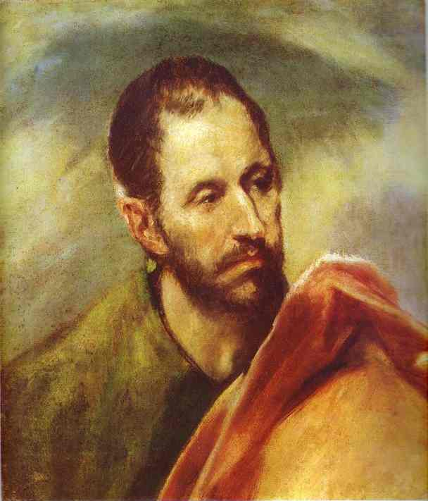 'Study of a Head', Oil by El Greco - Dominikos Theotokopoulos (1541-1614, Spain)