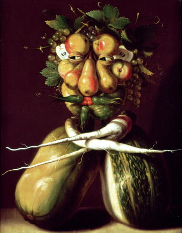 Whimsical Portrait by Giuseppe Arcimboldo (1527-1593, Italy) | Museum Quality Reproductions | WahooArt.com