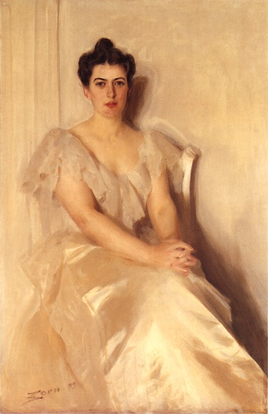 'Mrs Frances Cleveland', Oil by Anders Zorn (1860-1920, Sweden)