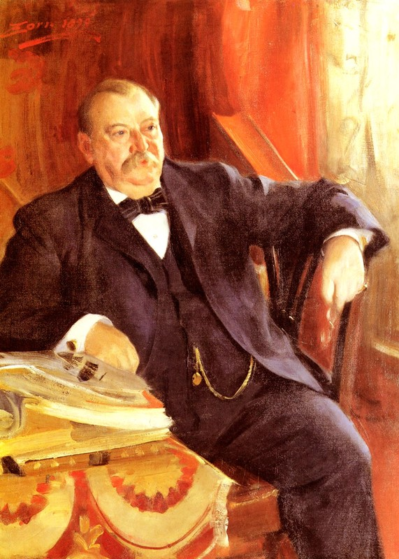 President Grover Cleveland by Anders Zorn (1860-1920, Sweden) | Famous Paintings Reproductions | WahooArt.com