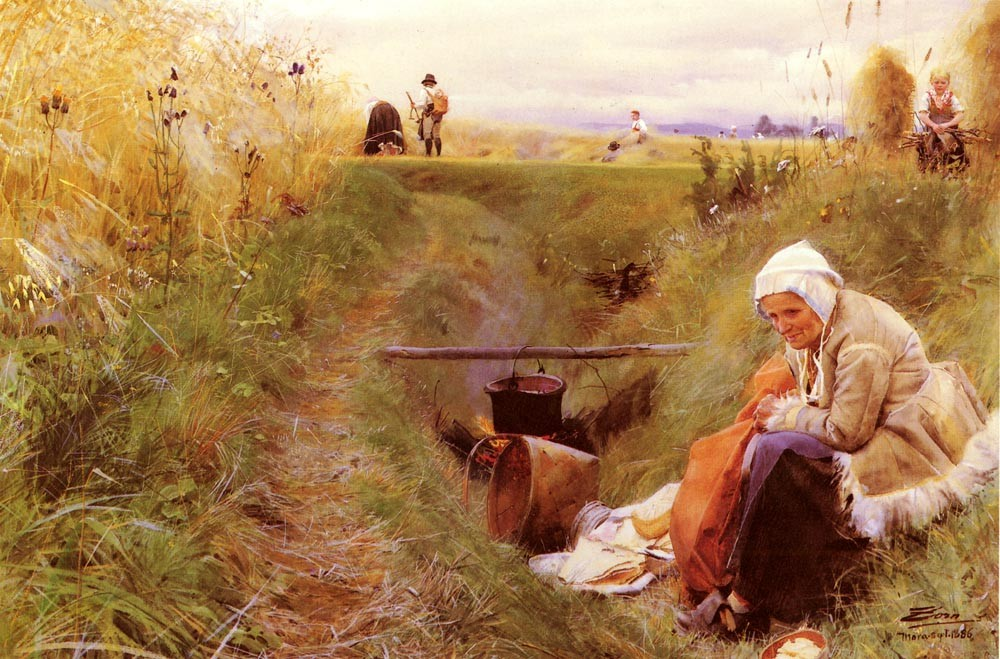 Vart Dagliga Brod by Anders Zorn (1860-1920, Sweden) | Famous Paintings Reproductions | WahooArt.com
