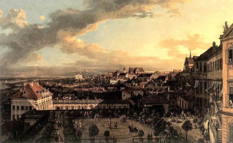 'View of Warsaw from the Royal Palace', Oil by Bernardo Bellotto (1721-1780, Italy)