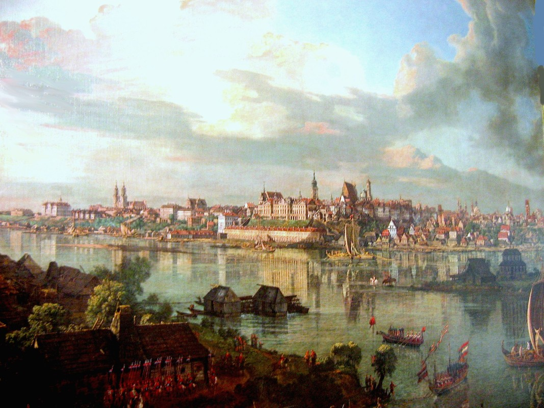 'Warsaw', Oil by Bernardo Bellotto (1721-1780, Italy)