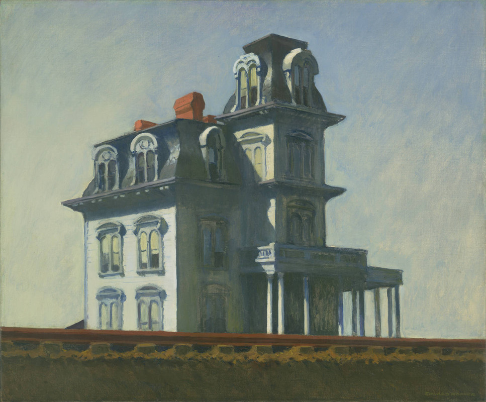 House by the Railroad by Edward Hopper (1882-1967, United States) | Famous Paintings Reproductions | WahooArt.com