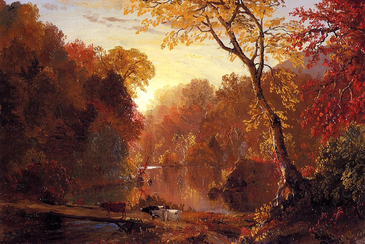 'Autumn in North America', Oil by Frederic Edwin Church (1826-1900, United States)