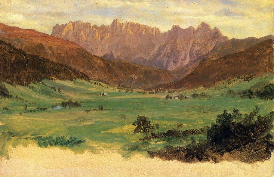 Hinter Schonau and Reiteralp Mountains, Bavaria by Frederic Edwin Church (1826-1900, United States) | Painting Copy | WahooArt.com