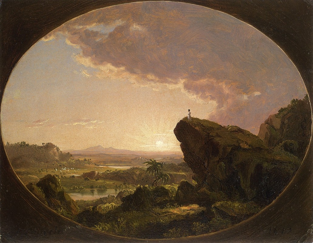 'Moses Viewing the Promised Land', Oil by Frederic Edwin Church (1826-1900, United States)