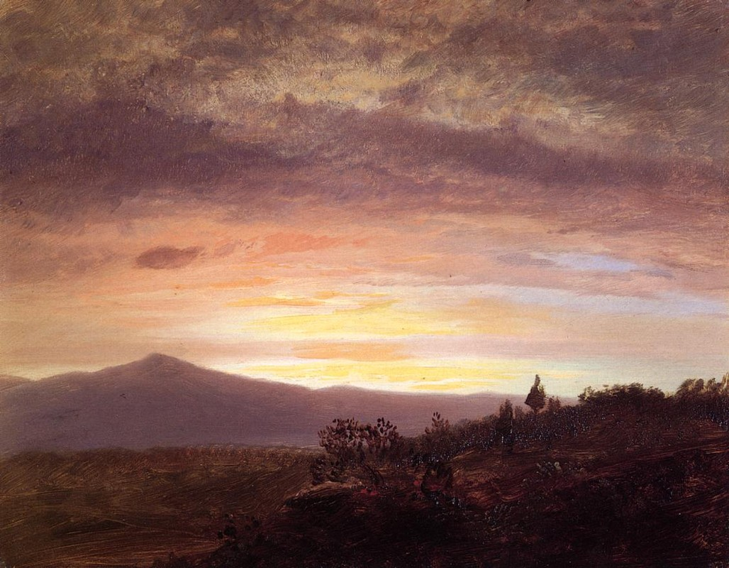 'Mount Katahdin', Oil by Frederic Edwin Church (1826-1900, United States)