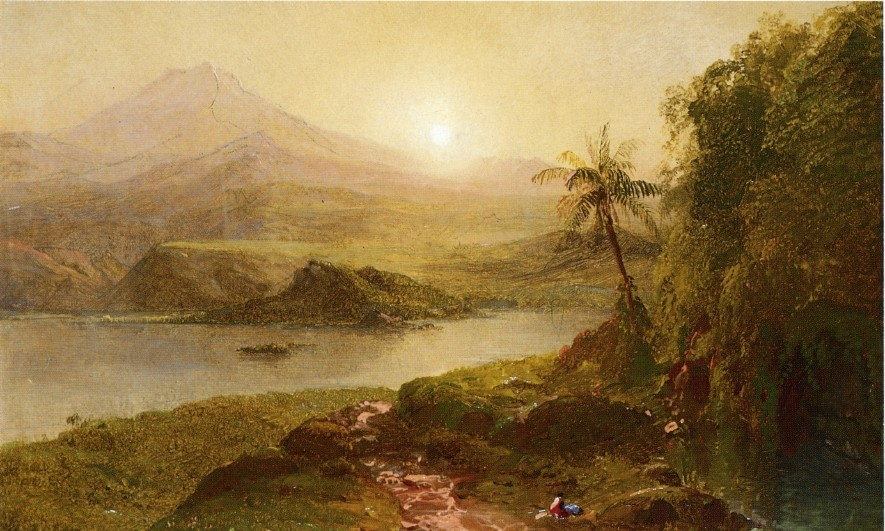 Mountain Landscape by Frederic Edwin Church (1826-1900, United States) | Oil Painting | WahooArt.com