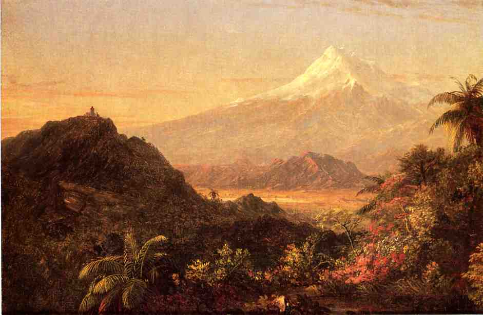 'South American Landscape 1', Oil by Frederic Edwin Church (1826-1900, United States)
