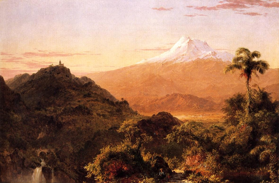 'South American Landscape 3', Oil by Frederic Edwin Church (1826-1900, United States)
