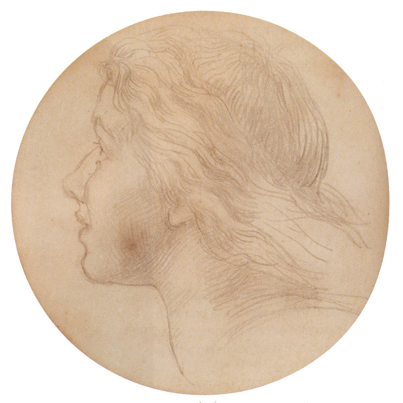 'Portrait Of Ellen Terry', Drawing by George Frederic Watts (1817-1904, England)
