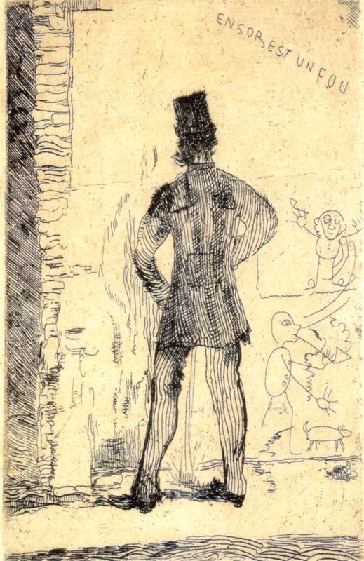 'The Pisser', Oil by James Ensor (1860-1949, Belgium)