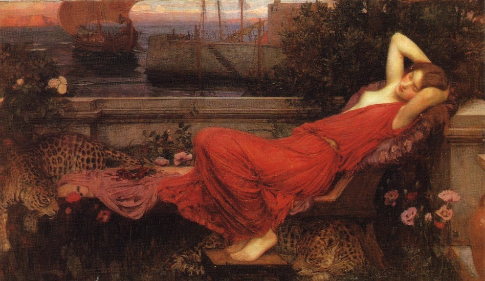 'Ariadne', Oil by John William Waterhouse (1849-1917, Italy)