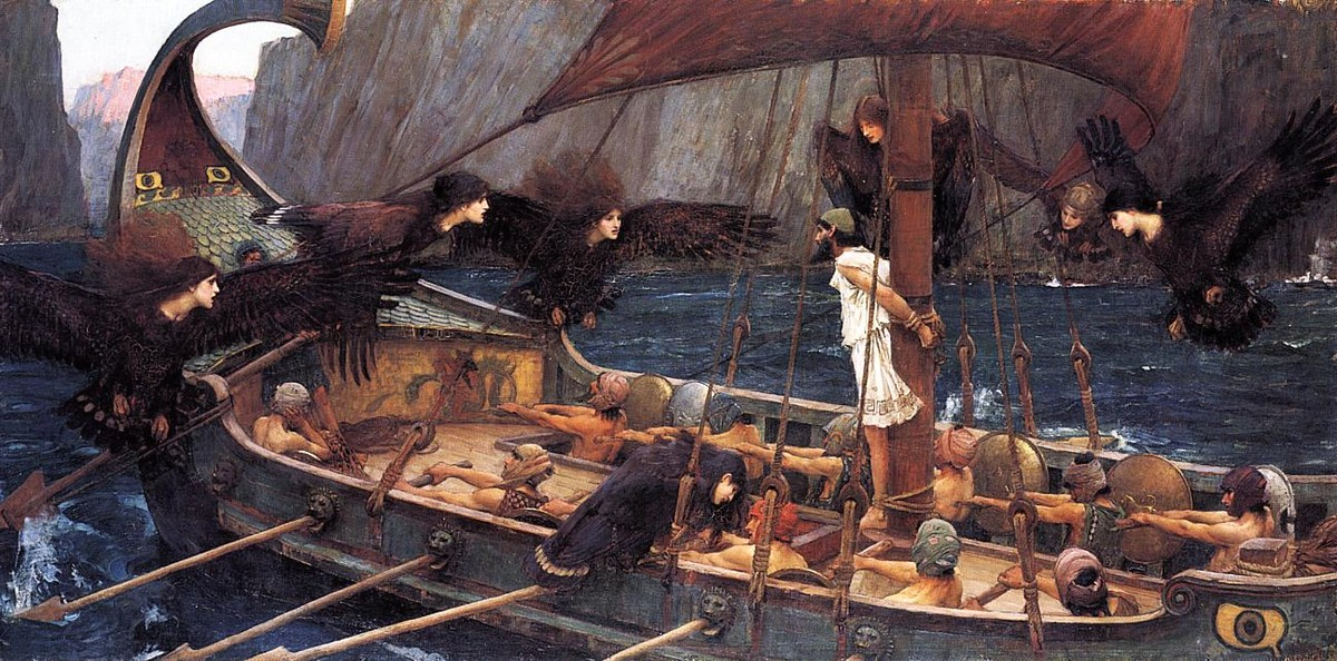 Ulysses and the Sirens by John William Waterhouse (1849-1917, Italy) | Art Reproduction | WahooArt.com
