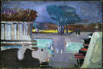 Mark Rothko (Marcus Rothkowitz) - Untitled (figure lying on park bench)
