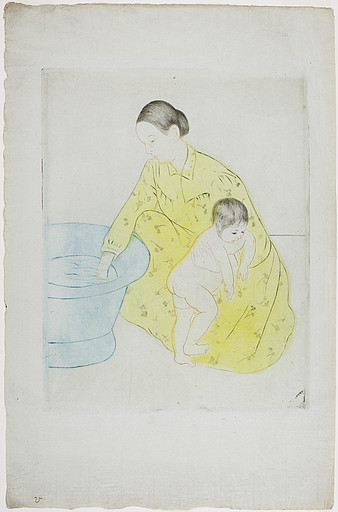 The Bath 1 by Mary Stevenson Cassatt (1844-1926, United States) | Famous Paintings Reproductions | WahooArt.com