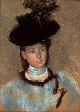'The Black Hat', Oil by Mary Stevenson Cassatt (1844-1926, United States)