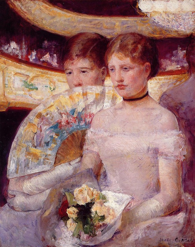 'Two Women in a Theater Box', Oil by Mary Stevenson Cassatt (1844-1926, United States)