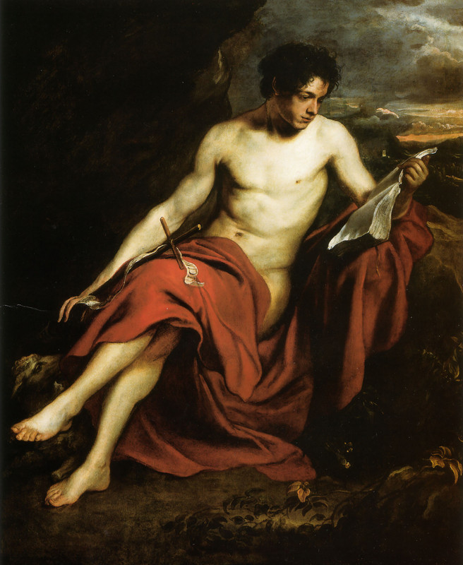 'Saint John the Baptist in the Wilderness', Oil by Sir Antony Van Dyck (1599-1641, Belgium)