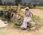 Theodore Robinson - La Debacle (aka Marie at the Little Bridge)