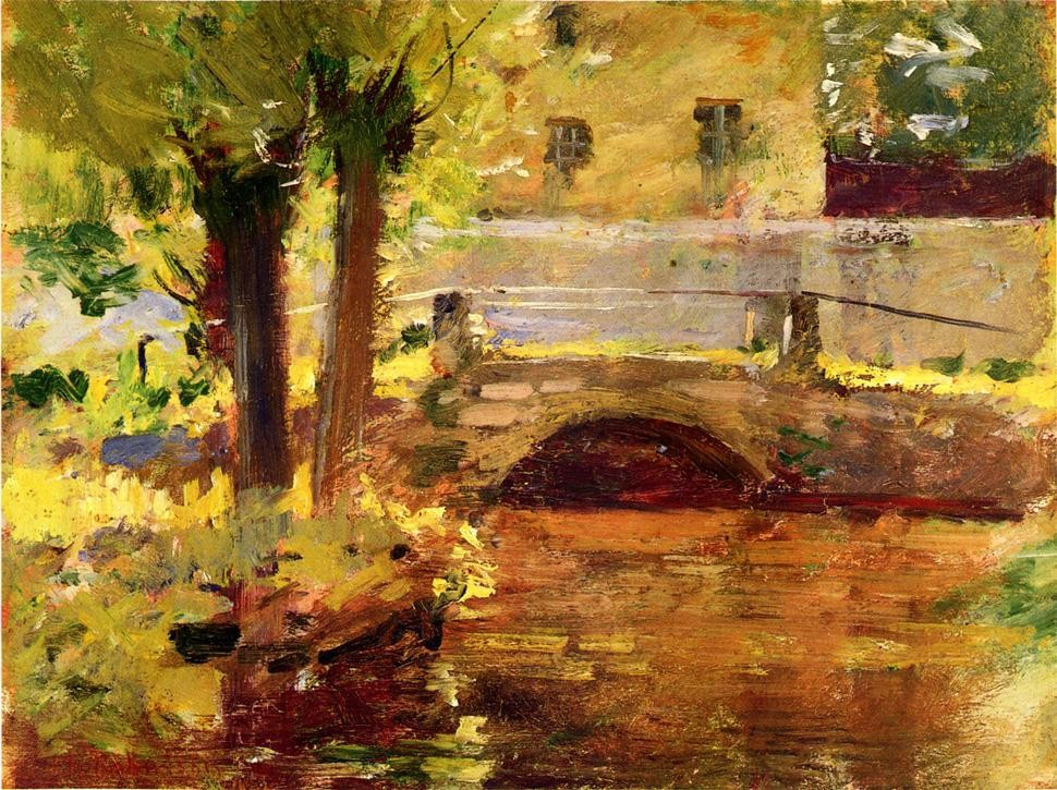 'The Bridge at Giverny', Oil by Theodore Robinson (1852-1896, United States)