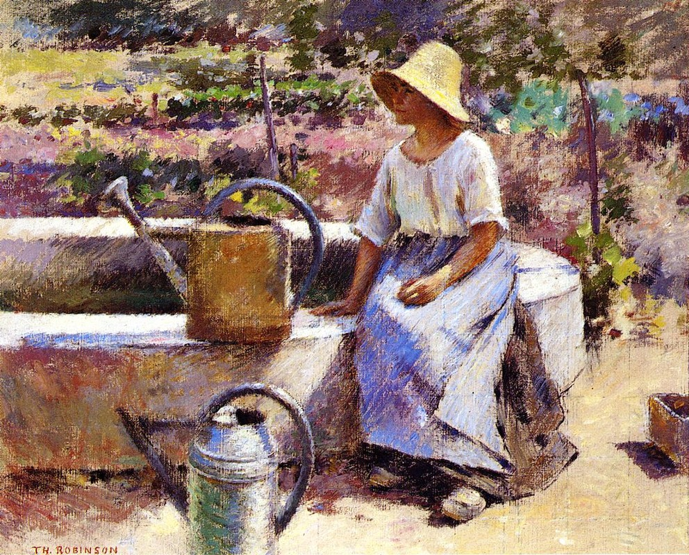 The Watering Pots by Theodore Robinson (1852-1896, United States) | Art Reproduction | WahooArt.com