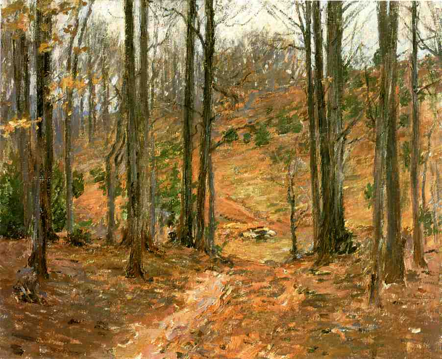 Virginia Woods by Theodore Robinson (1852-1896, United States) | WahooArt.com