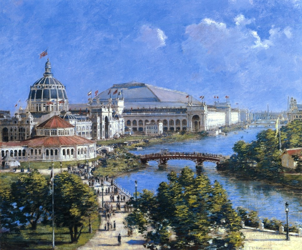 'World's Columbian Exposition', Oil by Theodore Robinson (1852-1896, United States)