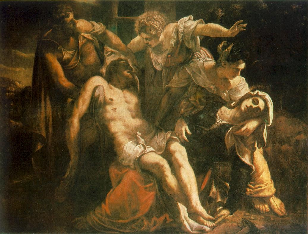 Descent from the Cross by Tintoretto (Jacopo Comin) (1518-1594, Italy) | Museum Quality Reproductions | WahooArt.com