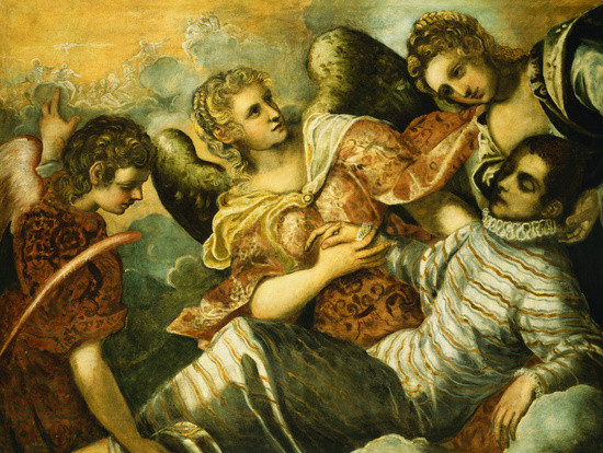 'Inspiration', Oil by Tintoretto (Jacopo Comin) (1518-1594, Italy)