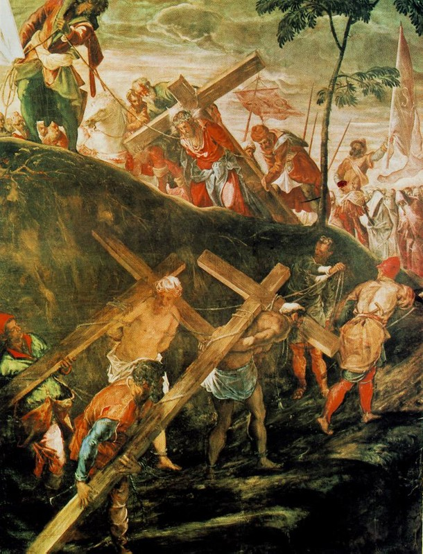 The Ascentto Calvary by Tintoretto (Jacopo Comin) (1518-1594, Italy) | Painting Copy | WahooArt.com