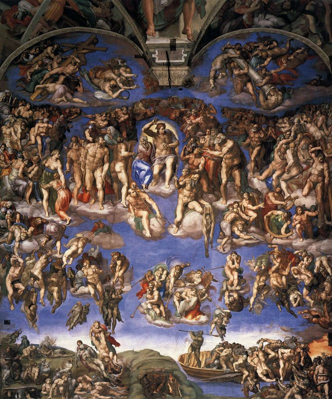 The Last Judgement by Tintoretto (Jacopo Comin) (1518-1594, Italy) | Oil Painting | WahooArt.com