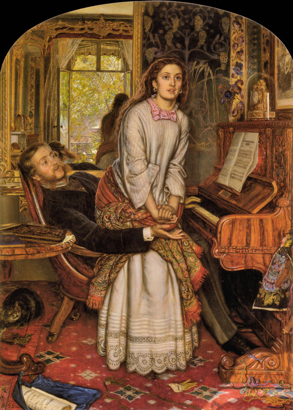 'The Awakening Conscience', Oil by William Holman Hunt (1827-1910, England)