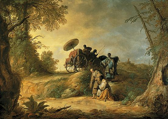 'The Baptism of the Eunuch', Oil by Aelbert Cuyp (1620-1691, Netherlands)