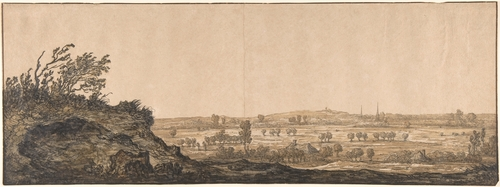 'View of Calcar on the Lower Rhine near Cleves', Oil by Aelbert Cuyp (1620-1691, Netherlands)