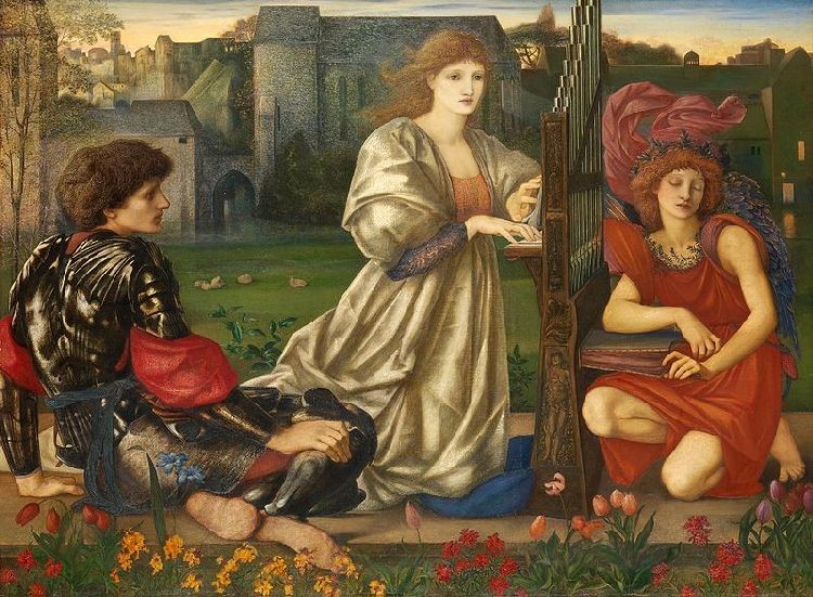 'Song of Love', Oil by Edward Coley Burne-Jones (1833-1898, England)