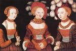 Lucas Cranach The Elder - Saxon Princesses Sibylla, Emilia and Sidonia