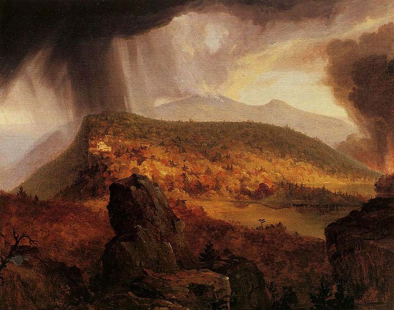 'Catskill Mountain House, The Four Elements', Oil by Thomas Cole (1801-1848, England)