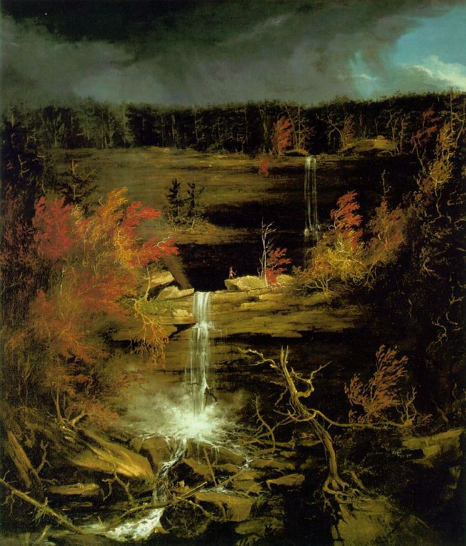'Falls of Kaaterskill', Oil by Thomas Cole (1801-1848, England)