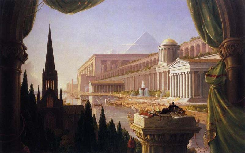 'The Architect's Dream', Oil by Thomas Cole (1801-1848, England)
