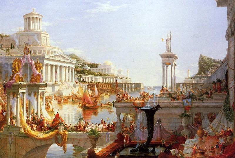 'The Course of Empire, Consummation', Oil by Thomas Cole (1801-1848, England)